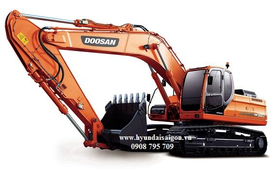 Máy xúc đào thủy lực gầu 1,5 khối bánh xích Doosan DX300LCA