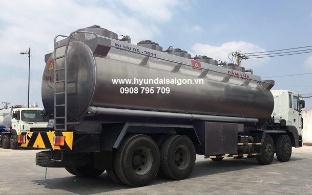 Xe bồn 23 khối chở xăng dầu Hyundai HD320